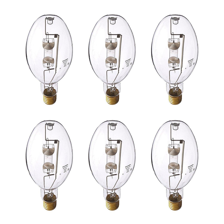 Sylvania ED37 400W Clear Metal Halide Lamp E39 Mogul Screw Bulbs, 6 Pack | 64036