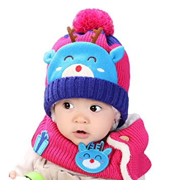 Image Unavailable. Image not available for. Color  Clearance Discount!  Jshuang Baby Deer Plus Velvet Baby Hat ... dbf725dde91e
