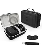 AMVR Leather Fashion Travel Case for Storage Oculus Quest VR Gaming Headset and Touch Controllers,Gamepad,Mobile Power Accessories Waterproof Carrying Bag