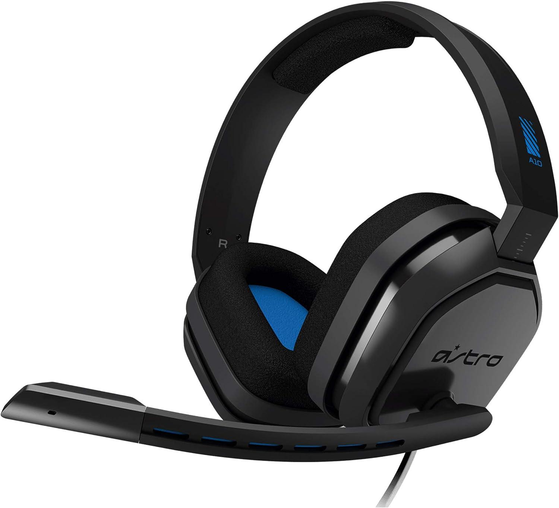 ASTRO Gaming A10 Auriculares alámbricos, ligeros y resistentes, ASTRO Audio, Dolby ATMOS, clavija de 3.5mm, para Xbox Series X S, Xbox One, PS5, PS4, Switch, PC, Mac, móvil - Negro/Azul