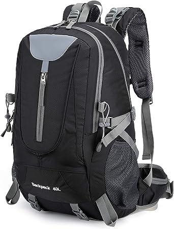 New Large 40L Backpack Mens Rucksack Fishing Sports Travel Hiking School Bag Gym