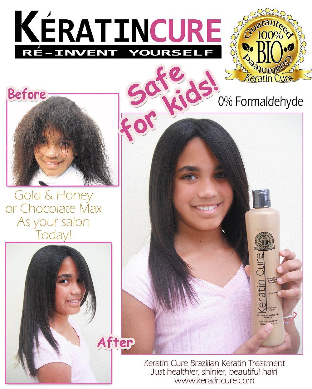 Keratin Cure Chocolate Max Formaldehyde Free 2 Piece 160ml 5.41 fl oz 2 Time Hair Treatment Kit Repair, Hydrate Striaght Hair