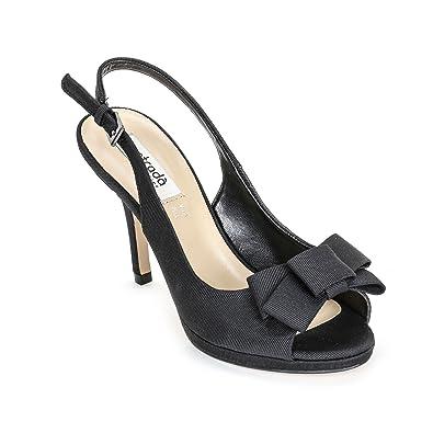 Estradà Scarpe Scarpe - Sandales Hautes Modèles Chanel en Gros Grain avec  Noeud, à Talons 10 8821ee6a51b5