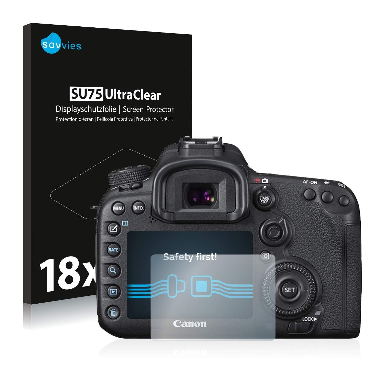 savvies Protector Pantalla Compatible con Canon EOS 7D Mark II (18 ...
