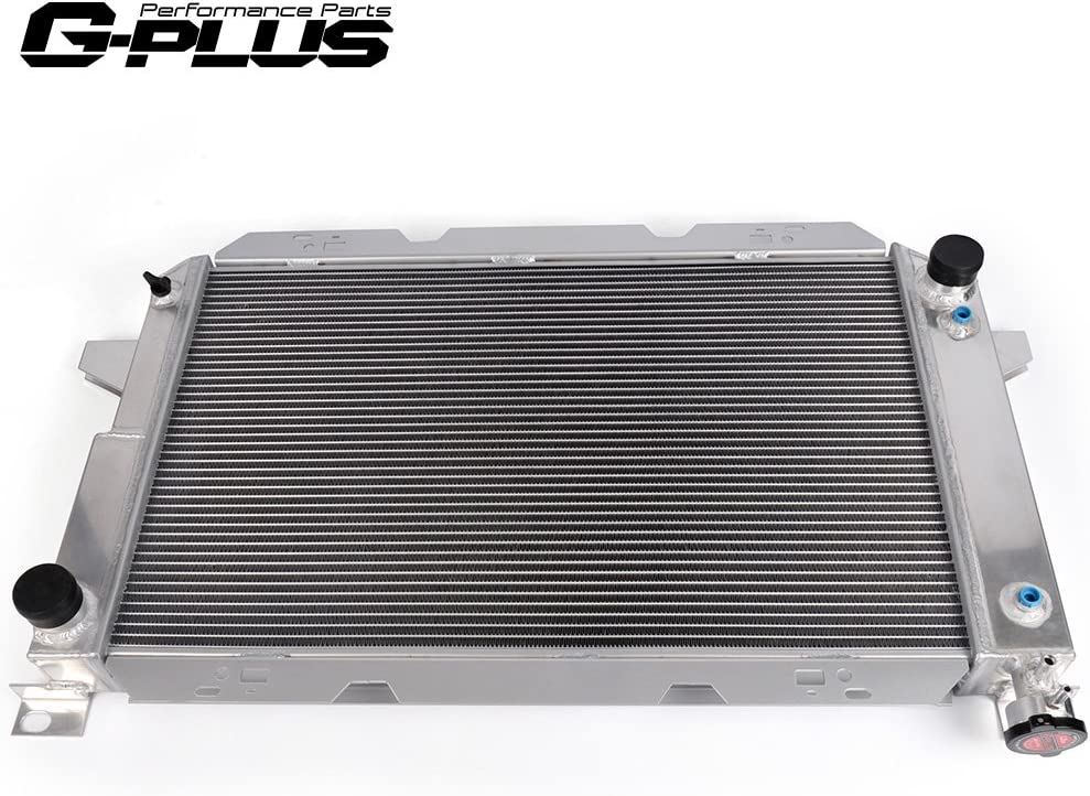 3-ROW ALUMINUM RACING RADIATOR+2 X FAN 85-96 FORD F150//F250//BRONCO 5.0L//5.8L V8