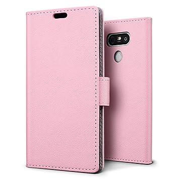 SLEO Funda para LG G6 Carcasa Libro de Cuero Ultra Delgado Billetera Cartera [Ranuras de Tarjeta,Soporte Plegable,Cierre Magnético] Case Flip Cover ...