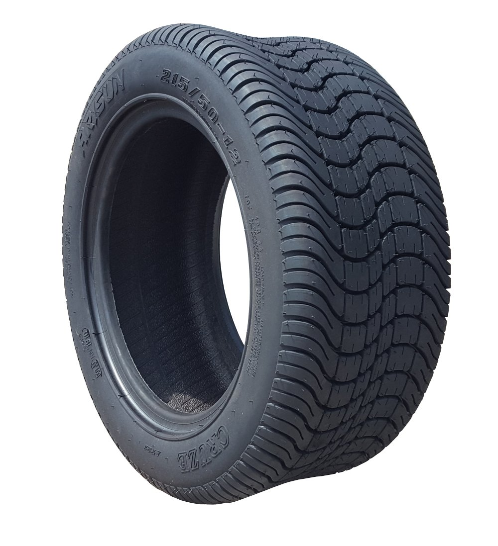 Arisun 215/50-12 ''Cruze'' DOT Low Profile Tires for EZGO, Club Car, Yamaha Golf Carts (1, set of 2, or set of 4) (215/50-12, 1 Individual Tire)