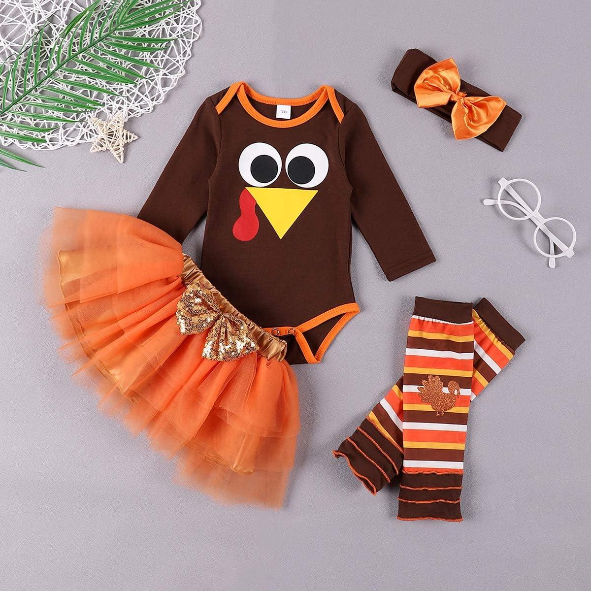 bilison Newborn Baby Girl Halloween Clothes Pumpkin Smile Ruffle Sleeve Romper Floral Suspender Shirt Headband Outfits