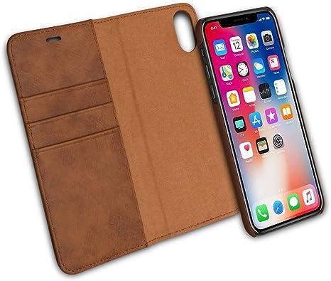 IPHONE XS / IPHONE X Custodia Flip Cover PELLE Libro Portafoglio