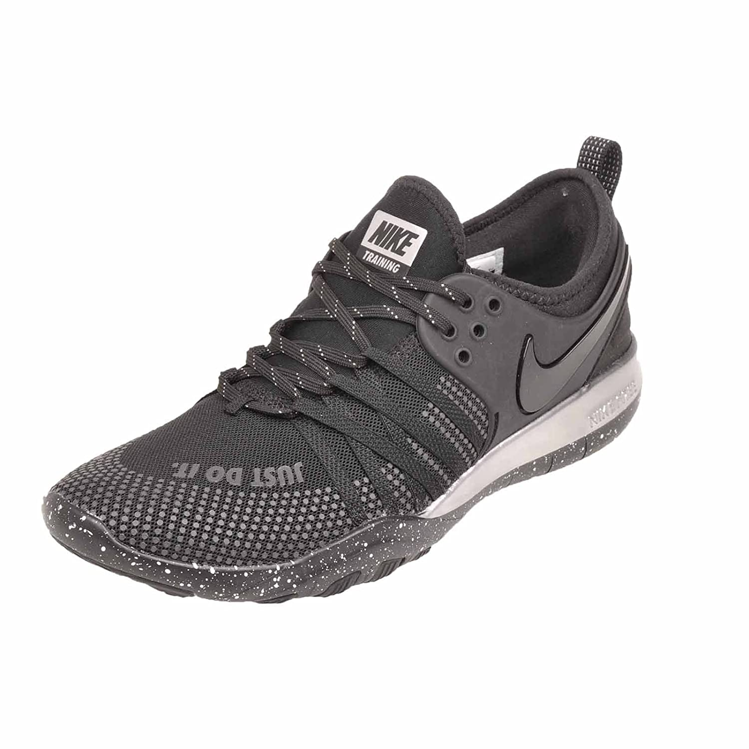 NIKE Womens Free TR 7 Selfie Low Top Lace up Running Sneaker B071LN4C3G 9 B(M) US|Black/Chrome/Black