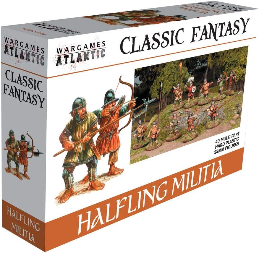 Wargames Atlantic - Classic Fantasy Halfling Militia (40 Multi Part Hard Plastic 28mm Figures)