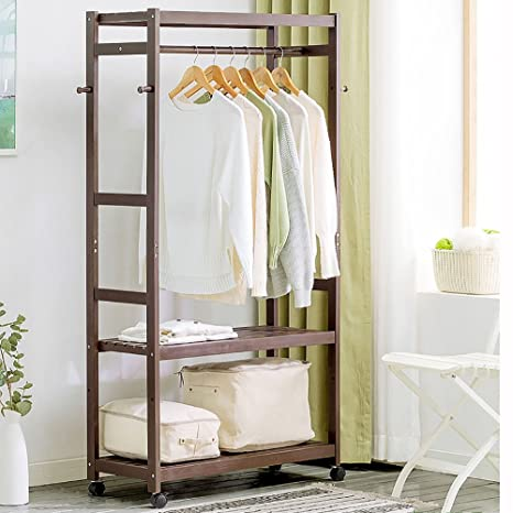 LJHA Perchero de Madera Maciza Rack/Simple/Dormitorio ...