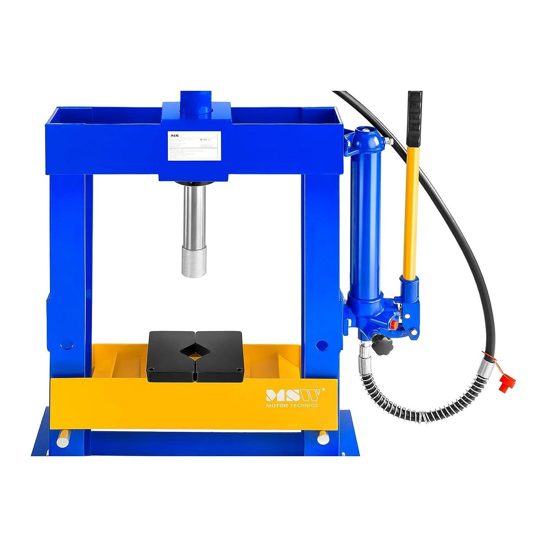 MSW MSW-WP-10T Werkstattpresse 10 t h/öhenverstellbar 250-450 mm Presse Hydraulisch Lagerpresse