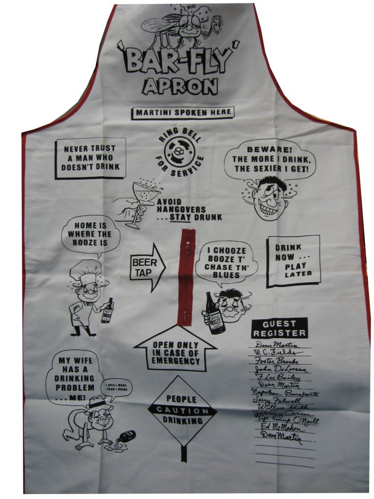 Leisters Bar Fly Apron Leister Game /& Novelty Company