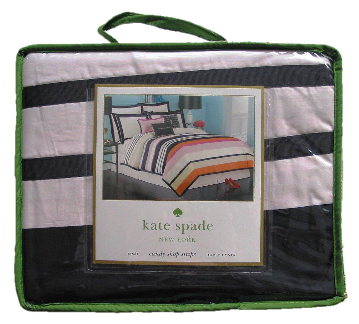 Kate Spade Duvet Cover Amazoncom Kate Spade New York Candy Shop Stripe Duvet Comforter