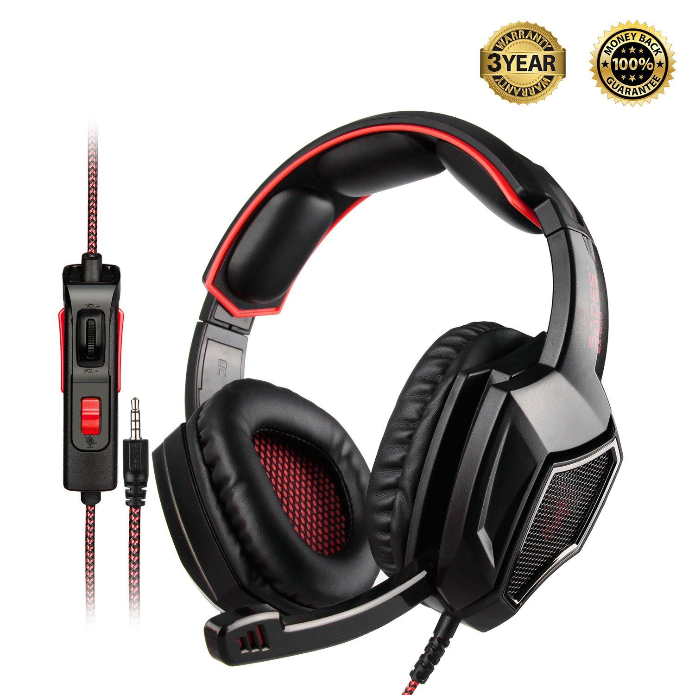 Auriculares Gamer : SADES SA920PLUS para PS4 PC Xbox One  No