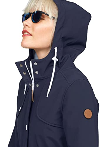 270f0c05615a KangaROOS Damen Softshelljacke Long Softshell Jacke Mantel (Blau, 36)   Amazon.de  Bekleidung