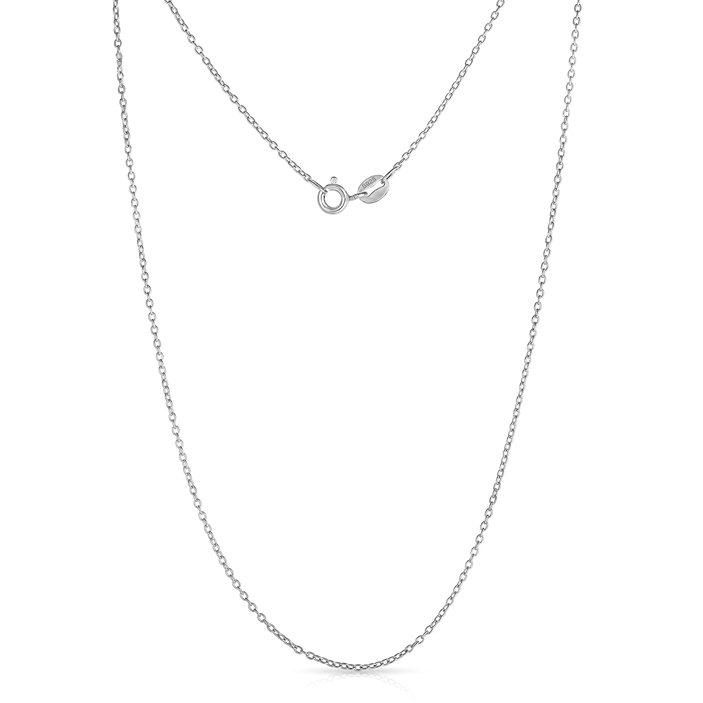 Sterling Silver Cubic Zirconia CZ Cross Pendant Necklace 18