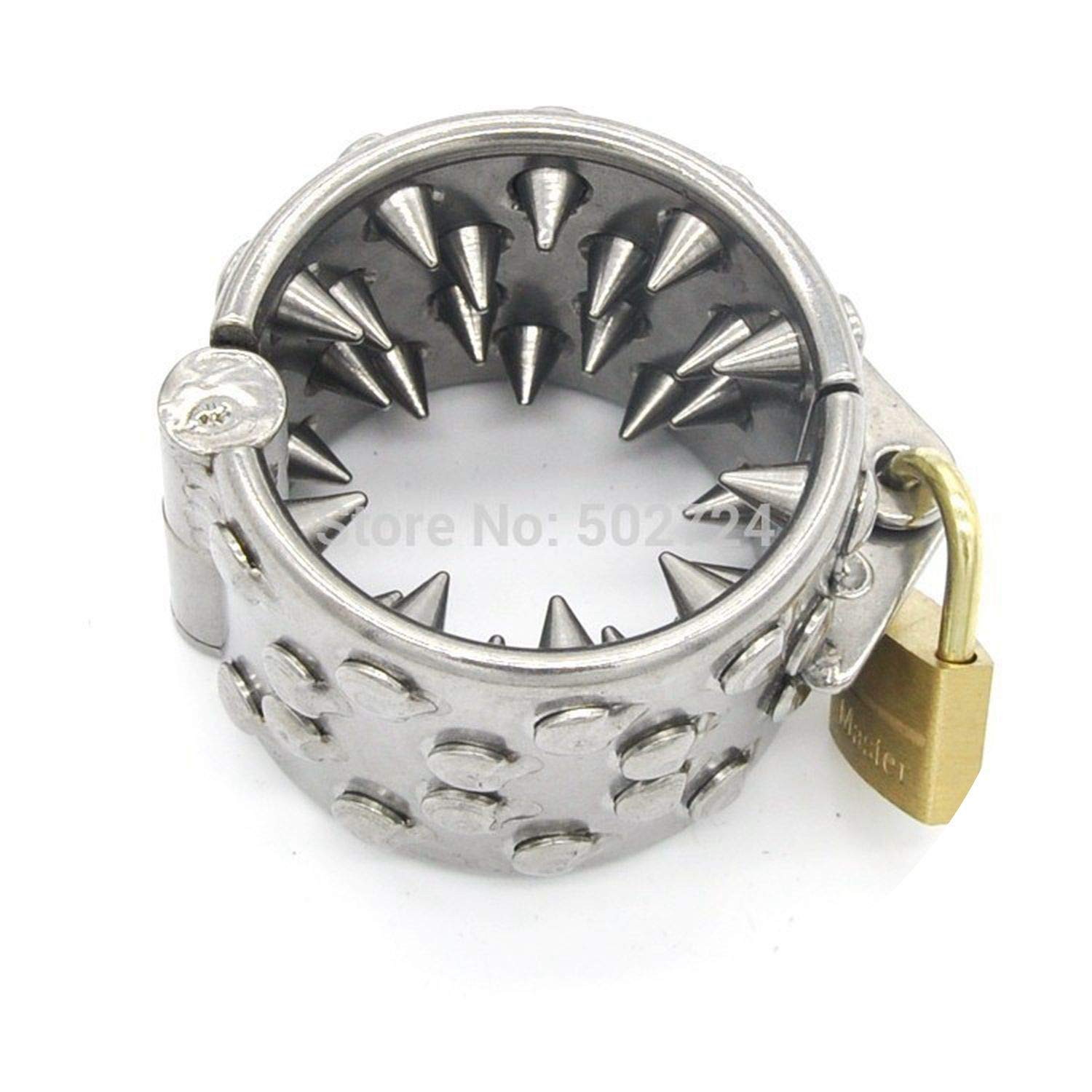 MYBYE TSHIRT Stainless Steel Ring 4 Rows Teeth Ring Stretcher Weight for Male