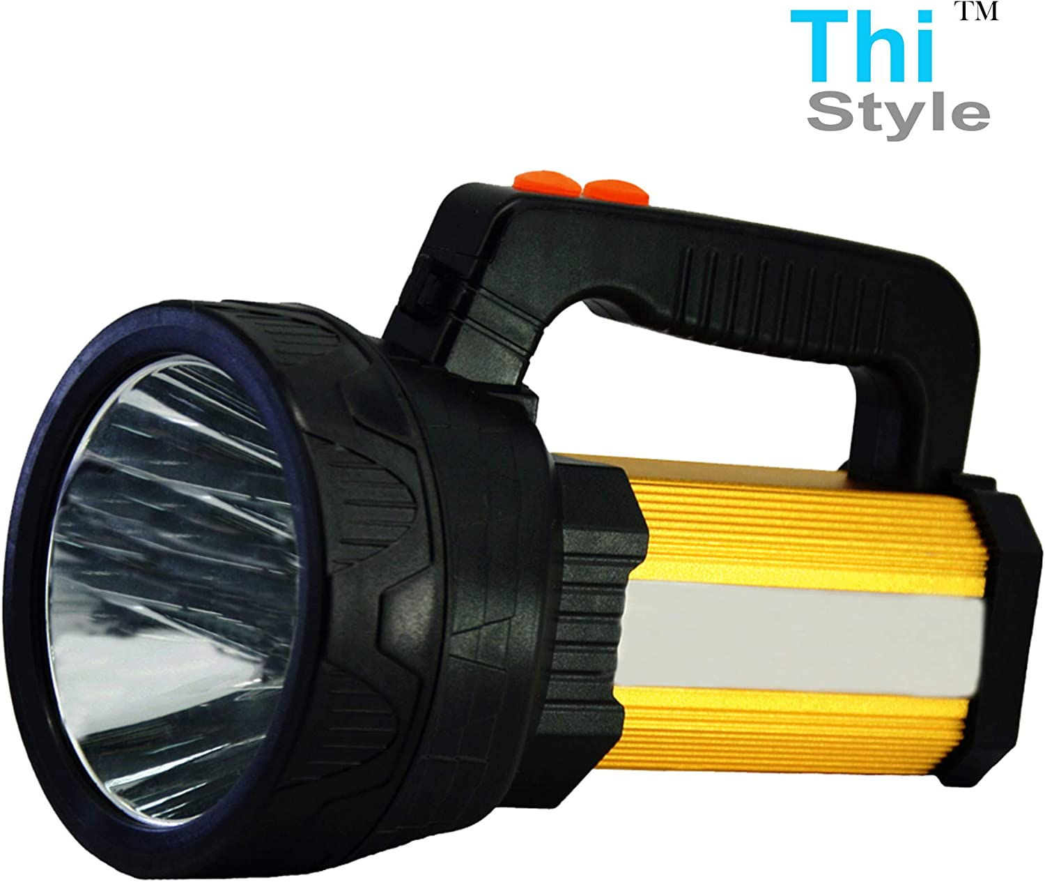 Searchlight Handheld Lamp Torch Spotlight LED Portable Rechargeable Flashlight