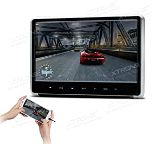 XTRONS® Silver 1PC 11.6 Inch HD Digital Touch Panel Car Auto Headrest Active DVD Player Kid Games Built-in HDMI Port