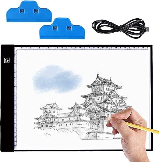 Mesa de Luz Dibujo A4, BASEIN Ultrathin 3.5mm A4 USB LED Tablet ...