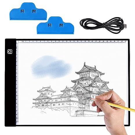 Mesa de Luz Dibujo A4, BASEIN Ultrathin 3.5mm A4 USB LED Tablet Box Tracer Para Dibujo, LED Tableta de Luz de Lluminación, Bocetos, Pintura Diamante ...