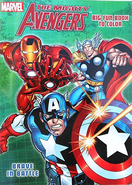 Marvel The Mighty Avengers Coloring Book With Captain America Hulk And Thor QuotBrave