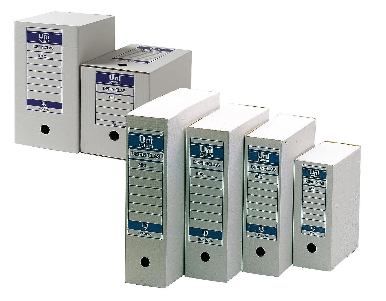 Unisystem 68358 - Pack de 10 archivadores definitivos: Amazon.es: Oficina y papelería