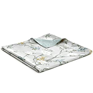 YnM Cotton Duvet Cover Weighted Blankets (48''x72'') -Magnolia Print