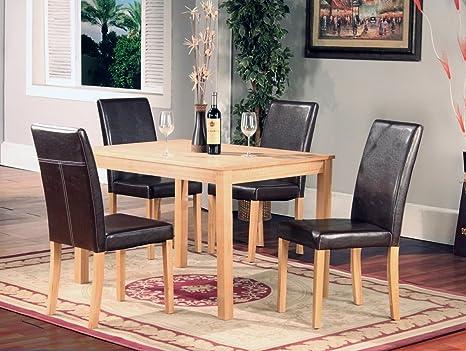 HGG-Tavolo da pranzo in legno di frassino con 4 sedie imbottite ...