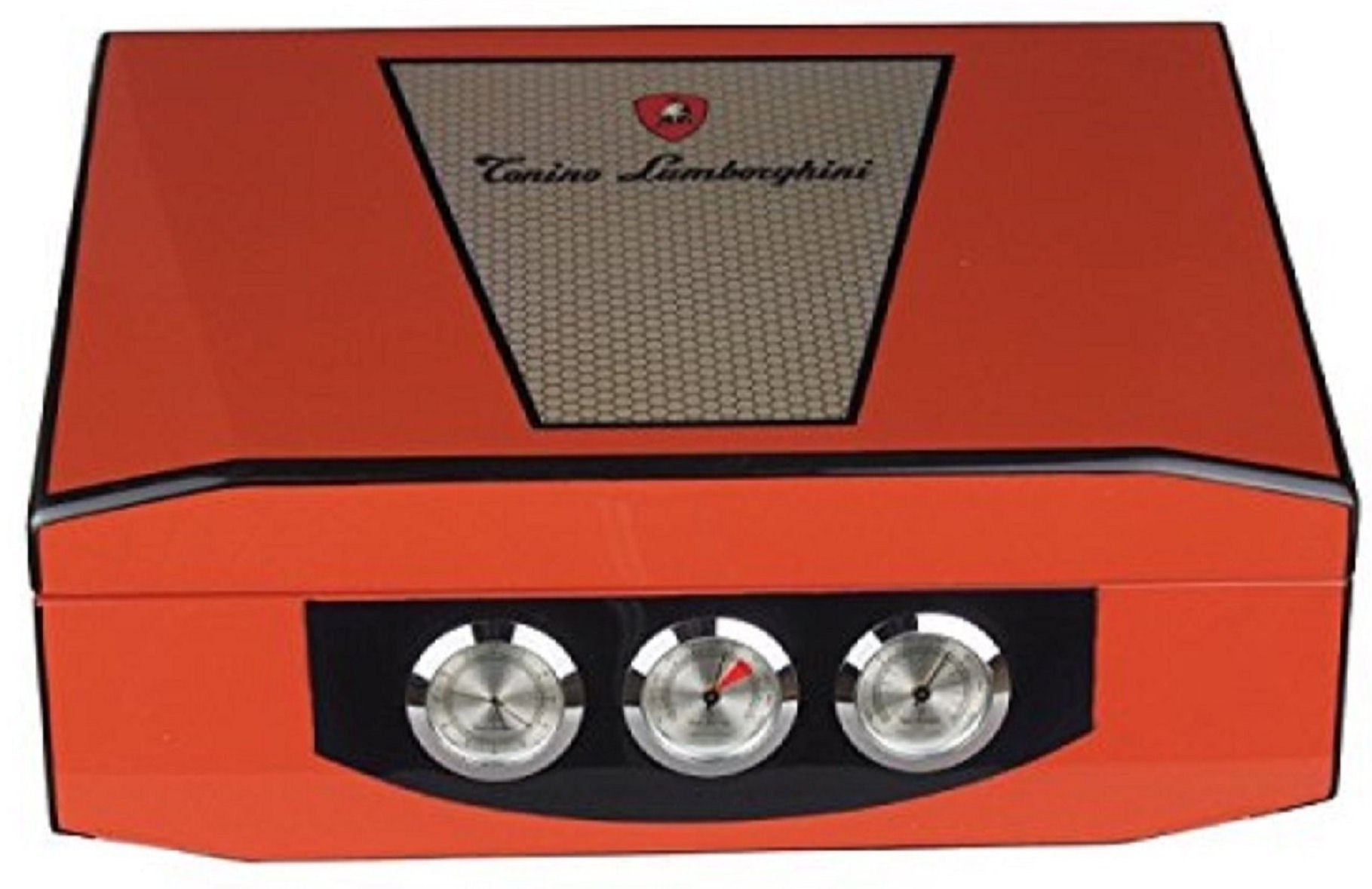 Lamborghini Humidor - hold 75 cigars - hygrometer