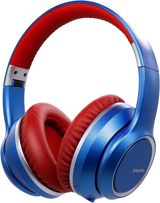 Auriculares con Cancelación de Ruido Inalámbrico Bluetooth 5.0, Srhythm 2020 Version NC15 Over-Ear Plegable con Micrófonos para Clase en Línea/Oficina ...