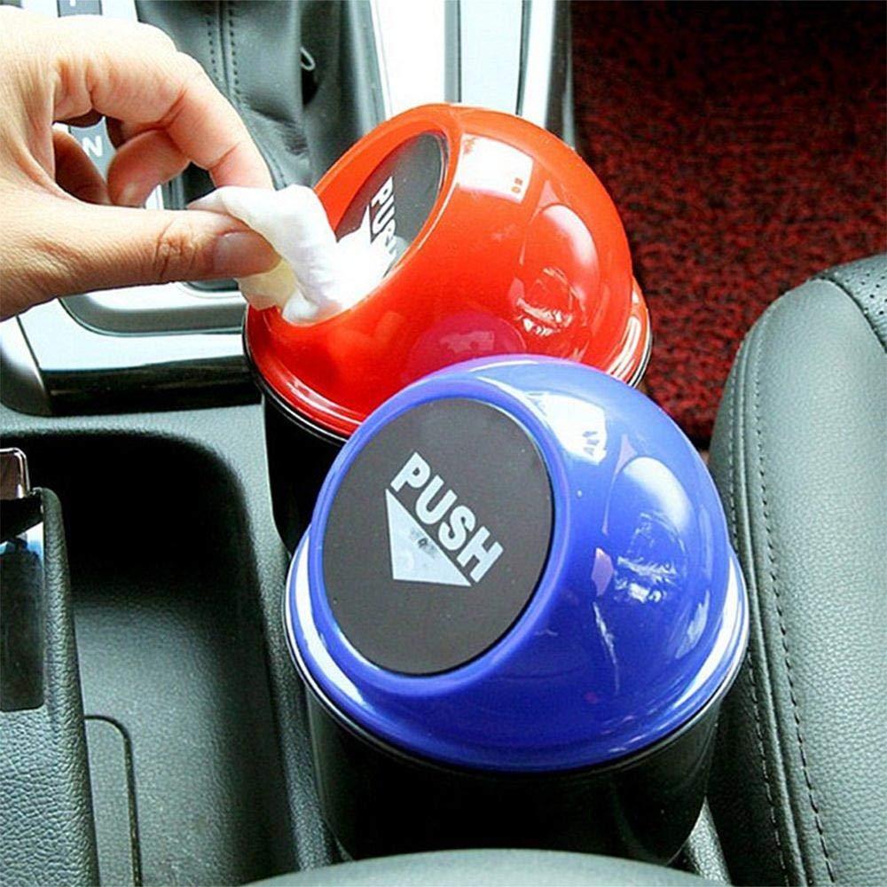 lfchbauk Auto Mini M/ülleimer mit Deckel Aschenbecher M/üll M/ülltonne Zigarette Universal Passt Getr/änkehalter in Konsole oder T/ür