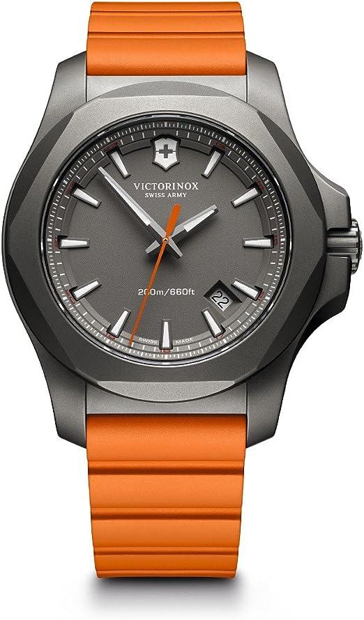 victorinox orologio analogico quarzo svizzero uomo con cinturino in gomma 241758