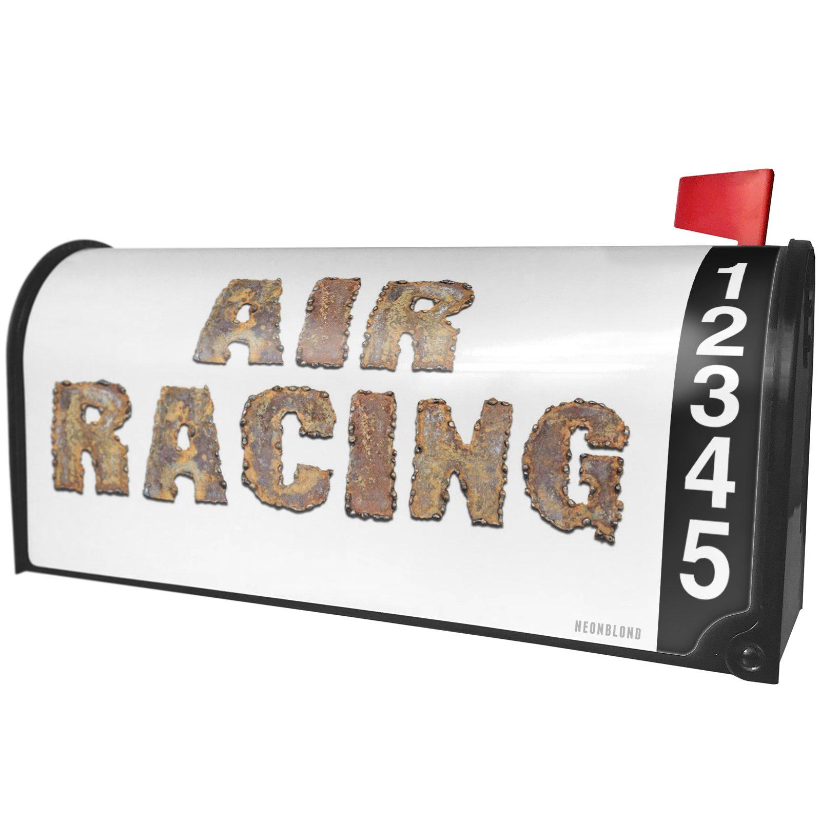 NEONBLOND Air Racing Rusty Vintage Metal Welding Magnetic Mailbox Cover Custom Numbers