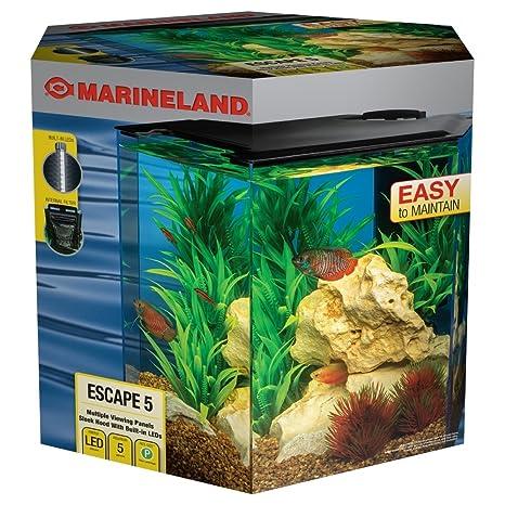 amazon com marineland escape 5 aquarium kit built in leds