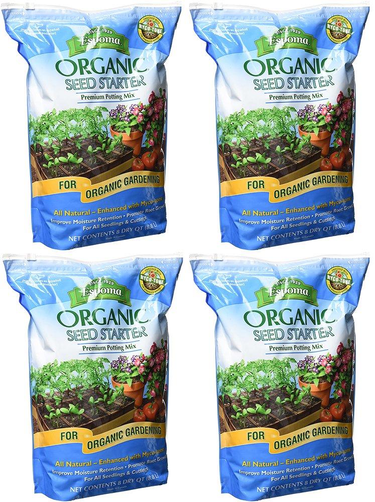 Espoma Organic DCbbi Seed Starter, 8 Quart (4 Pack)