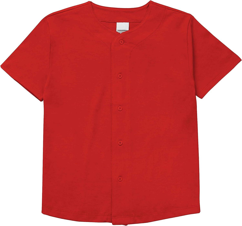 Hat and Beyond Mens Baseball Button Down Jersey Hipster Hip Hop T Shirts