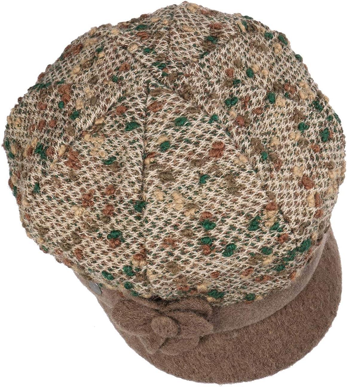 Made in Italy mit Schirm Lierys Levanja Schildm/ütze Damencap Wintercap Schirmm/ütze Damen Schirm Herbst-Winter