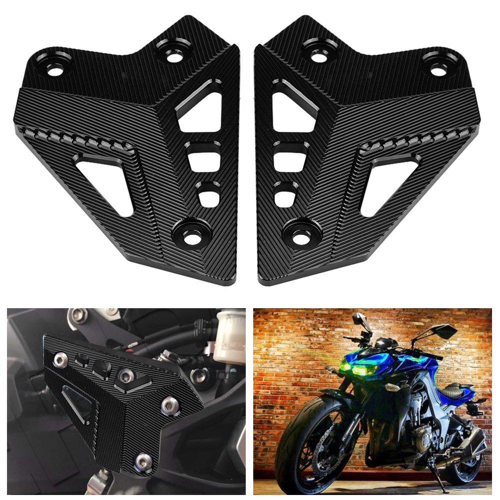 Green Motorcycle Footrest Foot Peg Protector Heel Protective Cover Guard for Kawasaki Z900 2017-Onwards Foot Peg Protector
