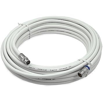 Satix SKK01003 - Coaxial Cable, Conectores Tipo F y Tip IEC-M apantallado Triplemente