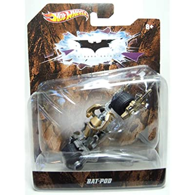 Hot Wheels The Dark Knight Bat-Pod 1:50 Scale Die Cast Vehicle: Toys & Games