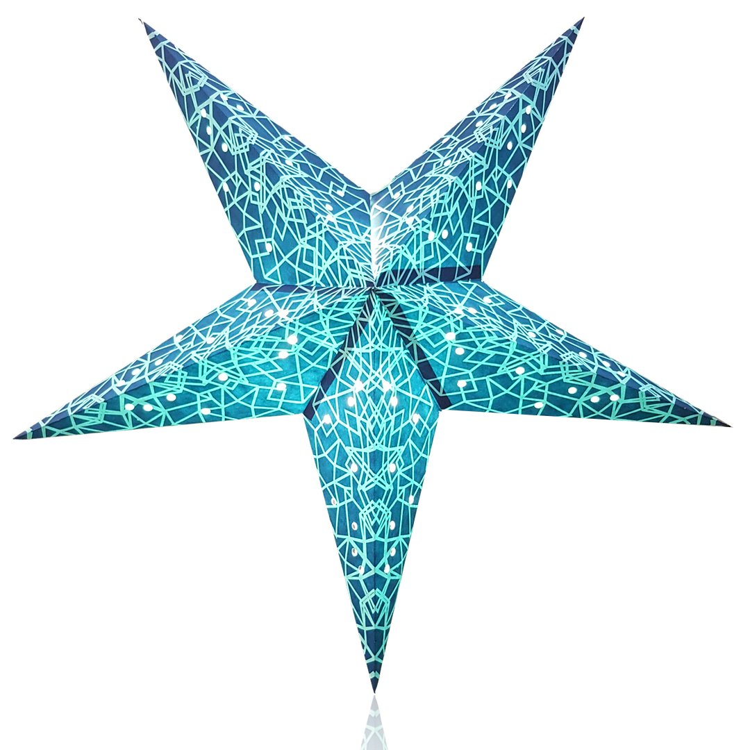 Happy Sales HSSL-FGEOBL, Tron Paper Star Lantern Blue