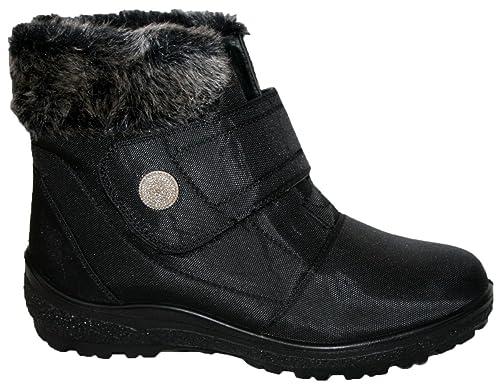 Cushion Walk Carly - Botas de nieve de sintético mujer, color negro, talla 36