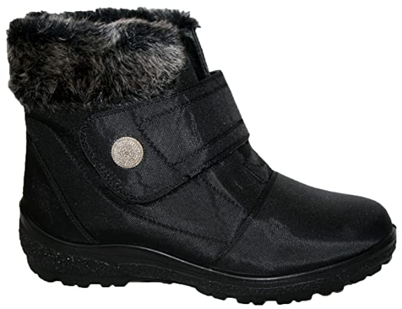 Cushion Walk Thermo Tex Womens Comfort Fit Winter Boots   Cw81 Brown by Cushion Walk