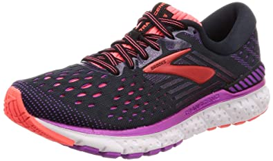 39c5fa60e23 Brooks Womens Transcend 6 - Black Purple Coral - B - 8.5