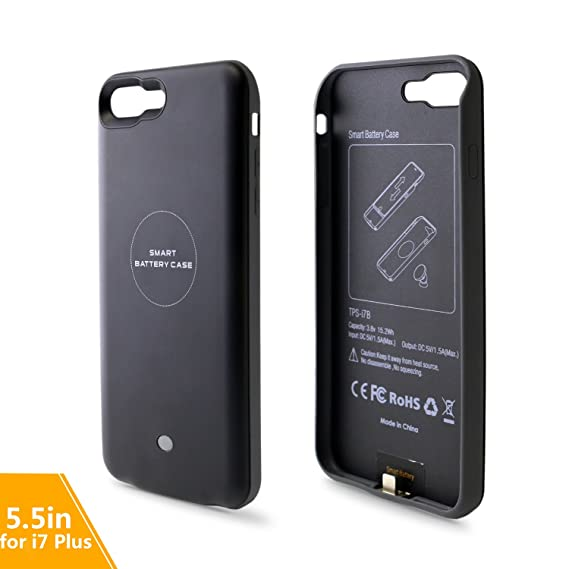 premium selection bce54 45059 ALLIMITY 4000mAh Battery Charge Case for iPhone 7 Plus Wireless Charging  Case for iPhone 7 Plus-Black