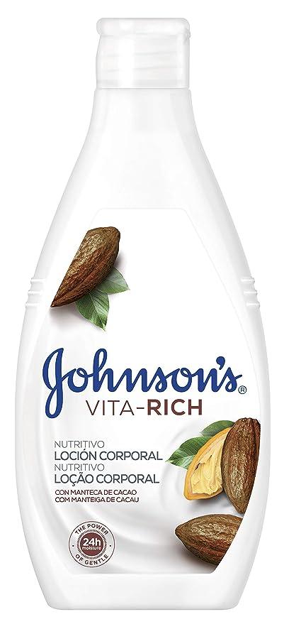 Johnson & Johnson - Loción Corporal Vita-Rich Nutritivo, Manteca de Cacao - 3