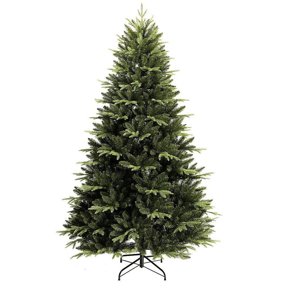 Artificial Christmas Tree. 7 Foots Unlit Xmas Green Tree Through Dense Foliage & Classic Pine Shape Looks Neat, Natural, Festively, Royal & Real. Great For Indoor & Holiday Season Party Decor.